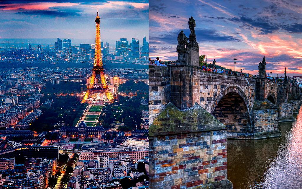 Красоты Праги и Парижа