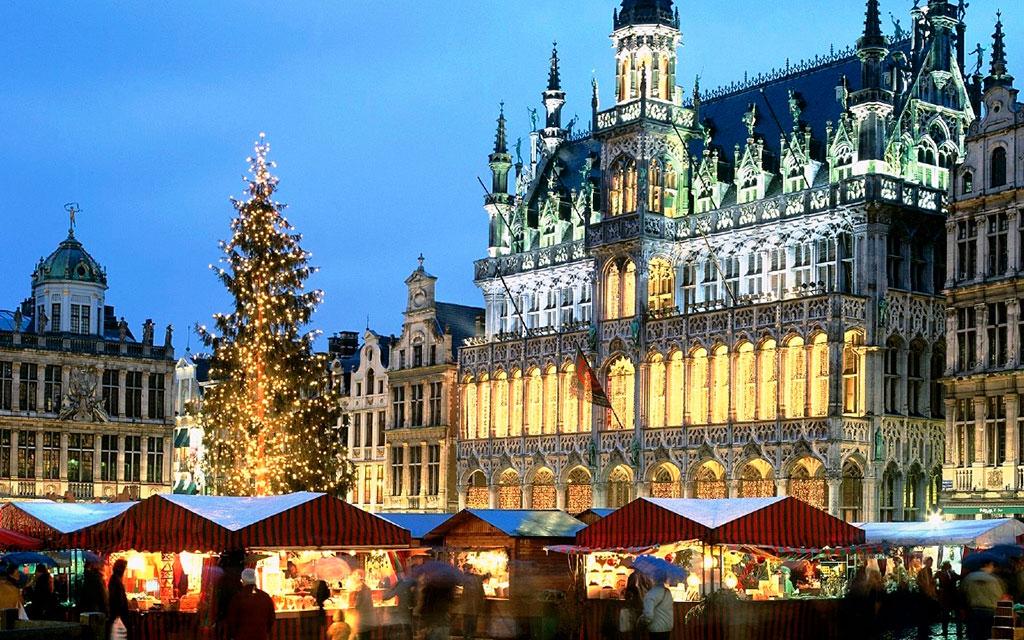 Брюссель зимой
